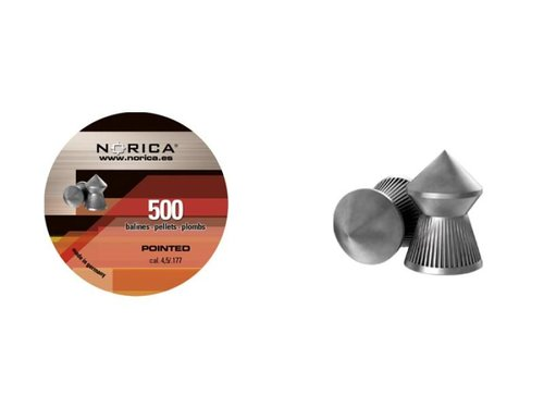 Diabolky špičaté NORICA Pointed 4,5 mm 500ks